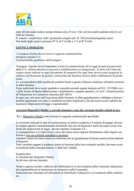 1 capitolato speciale per i servizi di ventiloterapia domiciliare per gli ...