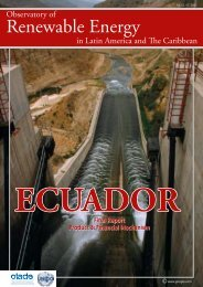 ECUADOR - Observatory for Renewable Energy in Latin America and