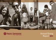 Annual Giving Report 2011 - Pacific Continental Bank