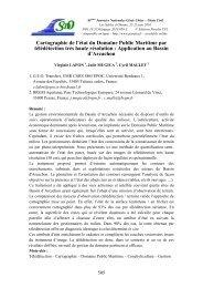 Cartographie de l'état du Domaine Public Maritime par ... - Paralia.fr