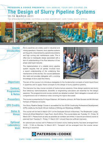 slurry pipeline design manual