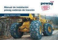 Manual de instalación pewag cadenas de tracción