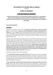 """""""THE BAPTISM OF INFANTS"""" - stmichaelsedgemead.org.za"""