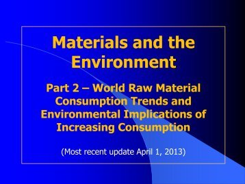 Part 2 - World Raw Material Consumption Trends and ...