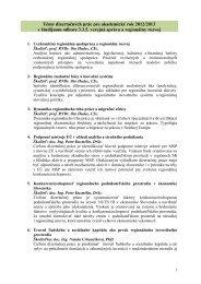 Témy dizertačných prác pre akademický rok 2012/2013 v študijnom ...