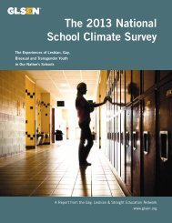 2013 National School Climate Survey Full Report