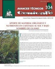 aporte de material orgánico y nutrientes en cafetales al sol y bajo ...