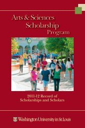 Arts & Sciences Scholarship Arts & Sciences Scholarship