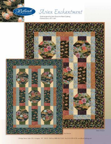 Quilt designed by Janet Houts for Blank Quilting ... - 3 Dudes Quilting