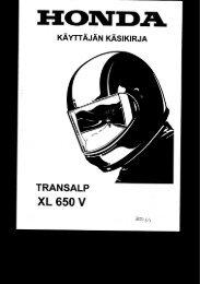 XL650V 2000-03 käsikirja (.pdf, 2.58 MB) - Honda