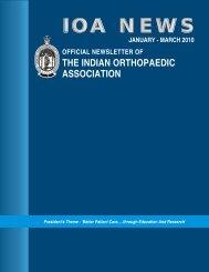 Newsletter Jan 2010 - Indian Orthopaedic Association