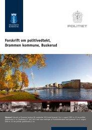 Forskrift om politivedtekt, Drammen kommune, Buskerud