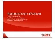 Nationellt forum eFaktura - NEA