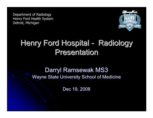 Henry Ford Radiology