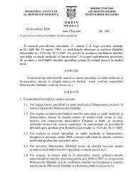 Ordin nr.448 din 05.12.08 - Ministerul Sănătăţii