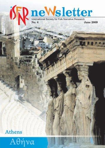 ISFNR Newsletter No. 4 June 2009 (in pdf-format)