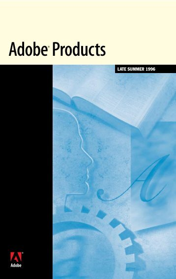 Adobe Products Brochure Late Summer 1996