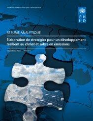 Élaboration de stratégies pour un développement résilient au climat ...