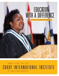 Coady International Institute - St. Francis Xavier University
