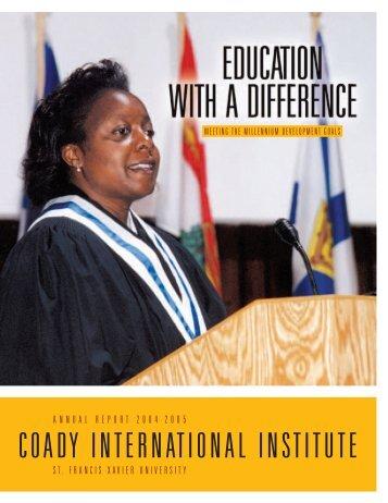 Coady International Institute - St. Francis Xavier University