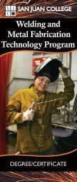 Welding and Metal Fabrication Technology ... - San Juan College
