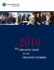 2010 Annual Report - United Memorial Medical Center