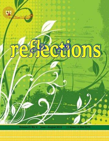 Reflections - Shaare Zedek Congregation