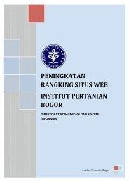 Ebook Perangkingan Website - Bogor Agricultural University