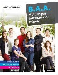 Brochure du B.A.A. - HEC Montréal