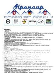 Alpencup Reglement 2012 - EFAC Hohenems