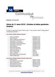Crèches et haltes garderies fermées - Montpellier