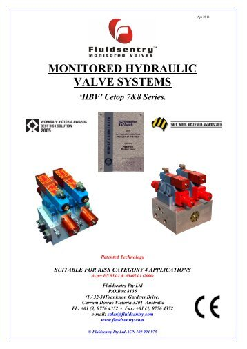 Cetop 7 - 8 Series Data Sheet - Automation Systems and Controls