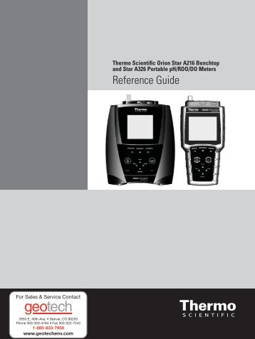 Thermo Scientific Orion Star A326 Reference Guide - Geotech ...