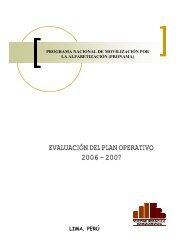 Plan Operativo 2007