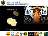 Sharing Best Practices - Global Tiger Initiative