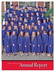 Annual Report2 0 1 0 - 1 1 - University Liggett School