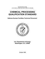 chemical processing qualification standard - Oak Ridge Institute for ...