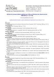 Articles et communications publiés par la Revue d'histoire ... - ahicf