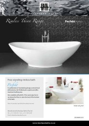 Specifications brochure - Boutique Baths