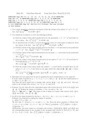March 25/10 AM EXERCISES Page 390 2-5, 8, 13, 14, 17, 19, 21, 22 ...