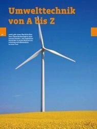 umwelttechnik von a bis Z
