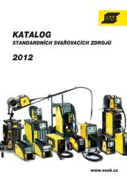 Kompletní KATALOG standardních svařovacích ... - Vše pro svařování
