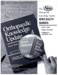 Orthopaedic Knowledge Update - The Journal of Bone & Joint Surgery