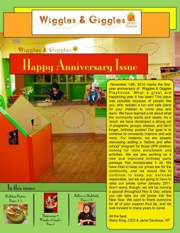 Newsletter November - Wiggles & Giggles Playhouse