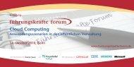 Cloud Computing Anwendungsszenarien in der ... - PresseBox