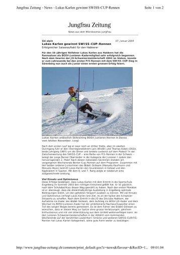 Bericht Lukas Karlen gewinnt SWISS-CUP aus ... - Bödeli Skiteam