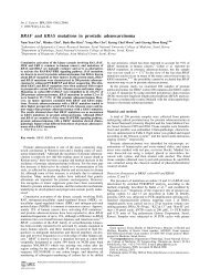 BRAF and KRAS mutations in prostatic adenocarcinoma