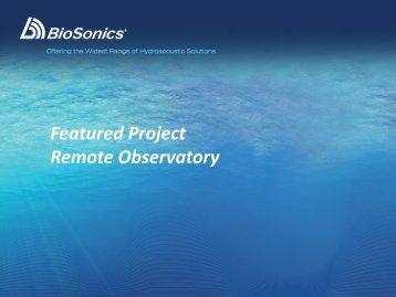 Digital Scientific Echosounders - BioSonics, Inc