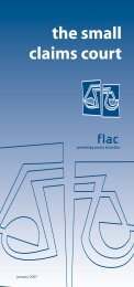 SMALL CLAIMS COURT - FLAC (Free Legal Advice Centres)