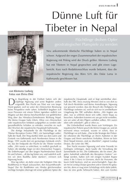 Dünne Luft für Tibeter in Nepal